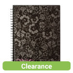 Pink Black A5 Twinwire Notebook 140 pages