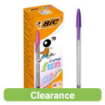 Bic Cristal Large Fashion Ballpoint Pens In Assorted Colours Pack of 20