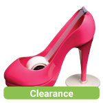 Scotch Pink Stiletto Tape Dispenser with 1 Roll of 19mm x 33m Tape