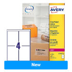 Avery Laser Labels L7569 25 Clear 25 Labels per pack Pack
