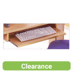 Newbury Office Environment Pull out Keyboard Shelf Oak 673W x 97D x 588H cm