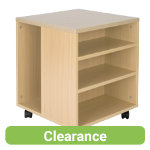 Newbury office furniture range mobile printer stand in maple effect