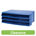 Avery Wide Entry Letter Tray Blue