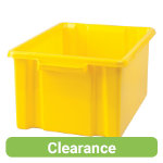 Stacking Storage Crates Mini Yellow Pack of 3