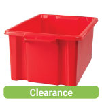 Stacking Storage Crates Maxi Red Pack of 2