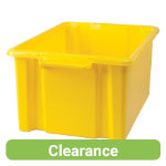 Stacking Storage Crates Maxi Yellow Pack of 2