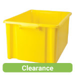 Stacking Storage Crates Jumbo Yellow Pack of 3