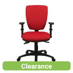 Petite Posture Office Chair Fabric Burgundy