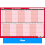 Office Depot Staff Planner Unmounted 2018 Red