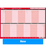 Office Depot Staff Wall Planner 2018 Red
