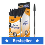 BIC Ballpoint Pen Cristal 04 mm Black Pack 50
