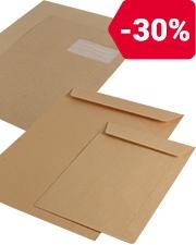 À partir de 18,99€ HT Enveloppes marron autoadhésives sans fenêtre OfficeDepot®