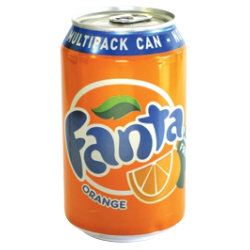 Fanta Orange Fizzy Drink 330ml 24 pk