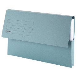 Niceday Foolscap Premium Blue Document Wallet Pack of 10