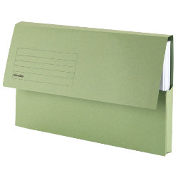 Viking Foolscap Document Wallets Green Pack of 10