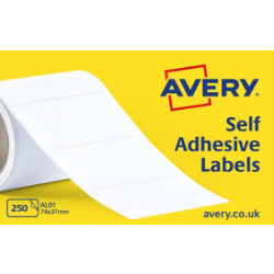 Avery Self Adhesive Address Labels 76x37mm 250 per Box AL01