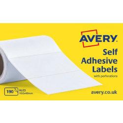 Avery Self Adhesive Address Labels 102 X 49mm 190 Labels Per Box AL03