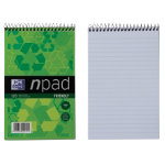 Oxford npad Recycled Soft Cover Wirebound Notebook B6 Ruled Margin