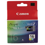 Canon BCI 16C Original 3 Colours Ink Cartridges 9918A002