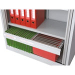 Optional Roll Out Filing Frame for Storage Cabinet Grey
