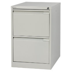Bisley Filing Cabinet 2 Drawer Grey 47W x 62D x 71H cm