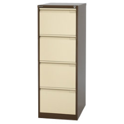 Bisley Filing Cabinet 4 Drawer Coffee Cream 47W x 62D x 132H cm