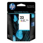 HP 23 Cyan Magenta Yellow Printer Ink Cartridge C1823DE