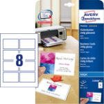 Avery Photo Quality Business Cards C32028 25 A4 250gsm White 25 x 8 Cards