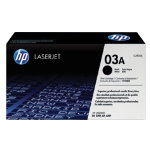 Original HP C3903A LaserJet black toner cartridge HP No 03A