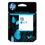 Original HP No13 cyan printer ink cartridge C4815A