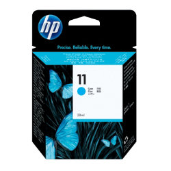 Original HP No.11 cyan printer ink cartridge C4836A
