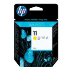Original HP No11 yellow printer ink cartridge C4838A