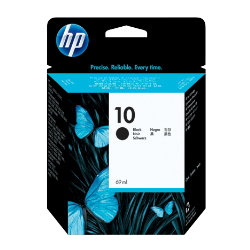 Original HP No.10 black printer ink cartridge C4844A
