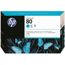 Original HP No.80 cyan printer ink cartridge C4846A
