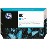 Original HP No80 cyan printer ink cartridge C4846A