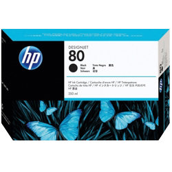 Original HP No.80 black printer ink cartridge C4871A