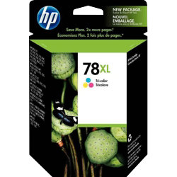 Original HP No.78 tri-colour (cyan magenta yellow) printer ink cartridge C6578AE