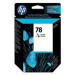 Original HP No78 tri colour cyan magenta yellow printer ink cartridge C6578DE