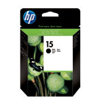Original HP No15 black printer ink cartridge C6615D