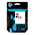 Original HP No15 black printer ink cartridge C6615NE