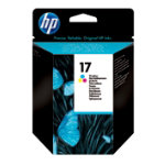 Original HP No17 tri colour cyan magenta yellow printer ink cartridge C6625A