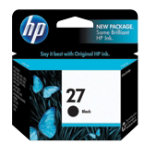 Original HP No27 black printer ink cartridge C8727AE