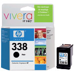 Original HP No338 black printer ink cartridge C8765EE