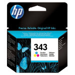 Original HP No343 tri colour cyan magenta yellow printer ink cartridge C8766EE