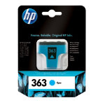 Original HP No363 cyan printer ink cartridge C8771EE