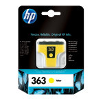Original HP No363 yellow printer ink cartridge C8773EE