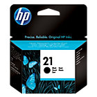 Original HP No21 black printer ink cartridge C9351AE