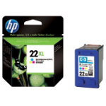 Original HP No 22XL high capacity tri colour cyan magenta yellow printer ink cartridge C9352CE