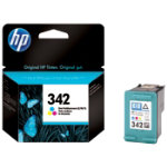 Original HP No342 tri colour cyan magenta yellow printer ink cartridge C9361EE