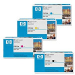 Original HP C9730A C9731A C9732A C9733A set of four laser toners black cyan magenta yellow HYP No 645A